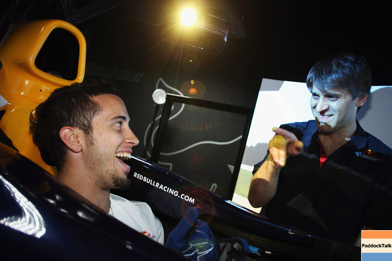 GEPA-08061199010 - FORMULA 1, MOTOGP - MotoGP Riders Visit Red Bull Factory. Image shows Andrea Dovizioso (ITA/ Honda). Photo: Getty Images/ Bryn Lennon - For editorial use only. Image is free of charge
