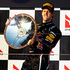 GEPA-27031199019 - FORMULA 1 - Grand Prix of Australia, award ceremony. Image shows the rejoicing of Sebastian Vettel (GER/ Red Bull Racing). Keyword: trophy. Photo: Getty Images/ Mark Thompson - For editorial use only. Image is free of charge