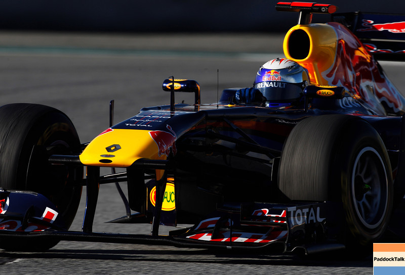 GEPA-19021199006 - FORMULA 1 - Testing in Barcelona, Circuit de Catalunya. Image shows Sebastian Vettel (GER/ Red Bull Racing). Photo: Mark Thompson/ Getty Images - For editorial use only. Image is free of charge