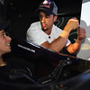 GEPA-08061199011 - FORMULA 1, MOTOGP - MotoGP Riders Visit Red Bull Factory. Image shows Casey Stoner (AUS) and Andrea Dovizioso (ITA/ Honda). Photo: Getty Images/ Bryn Lennon - For editorial use only. Image is free of charge