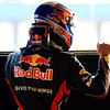 GEPA-12021199006 - FORMULA 1 - Testing in Jerez. Image shows den Jubel von Mark Webber (AUS/ Red Bull Racing). Photo: Mark Thompson/ Getty Images - For editorial use only. Image is free of charge