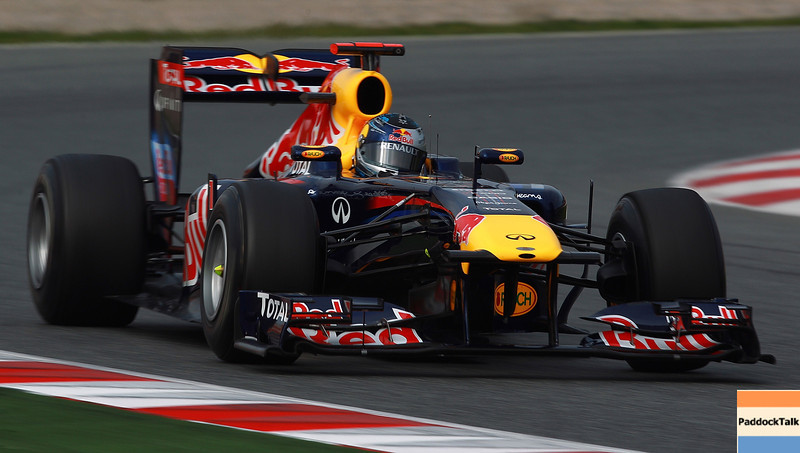 GEPA-11031199006 - FORMULA 1 - Testing in Barcelona, Circuit de Catalunya. Image shows Sebastian Vettel (GER/ Red Bull Racing). Photo: Vladimir Rys/ Getty Images - For editorial use only. Image is free of charge