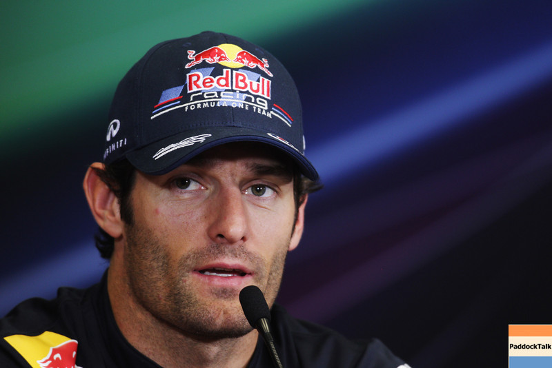 GEPA-23061199002 - FORMULA 1 - Grand Prix of Europe, press conference. Image shows Mark Webber (AUS/ Red Bull Racing). Photo: Paul Gilham/ Getty Images - For editorial use only. Image is free of charge