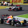 GEPA-09101199012 - FORMULA 1 - Grand Prix of Japan. Image shows Sebastian Vettel (GER/ Red Bull Racing/ in front), Lewis Hamilton (GBR/ McLaren Mercedes) and Jenson Button (GBR/ McLaren Mercedes). Photo: Getty Images/ Clive Mason - For editorial use only. Image is free of charge