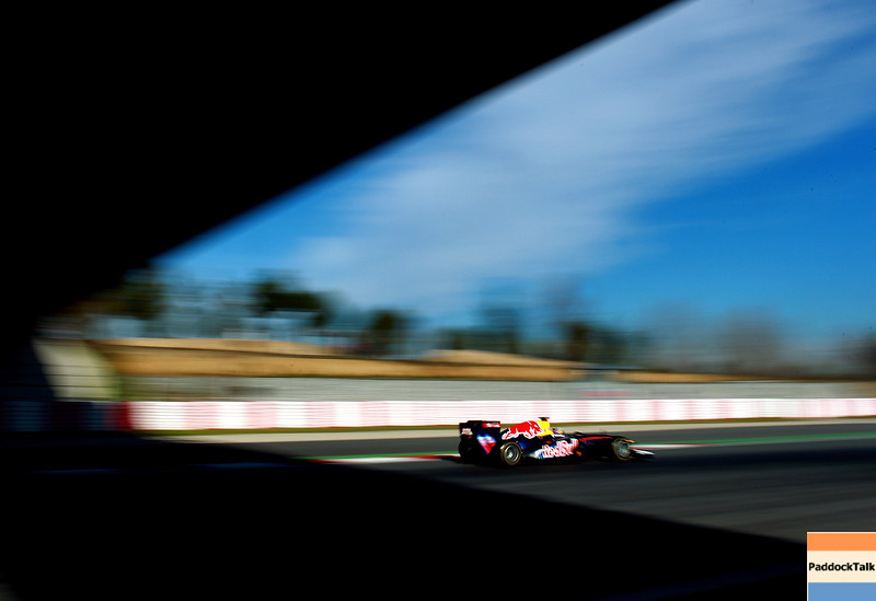 GEPA-19021199000 - FORMULA 1 - Testing in Barcelona, Circuit de Catalunya. Image shows Sebastian Vettel (GER/ Red Bull Racing). Photo: Vladimir Rys/ Getty Images - For editorial use only. Image is free of charge