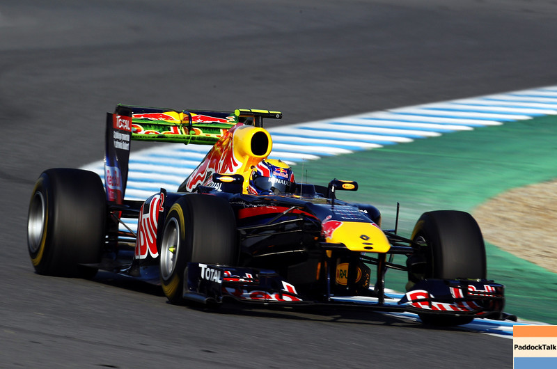 GEPA-12021199001 - FORMULA 1 - Testing in Jerez. Image shows Mark Webber (AUS/ Red Bull Racing). Photo: Mark Thompson/ Getty Images - For editorial use only. Image is free of charge