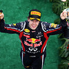 GEPA-10041199020 - FORMULA 1 - Grand Prix of Malaysia, Sepang Circuit. Image shows the rejoicing of Sebastian Vettel (GER/ Red Bull Racing). Keywords: award ceremony, podium, trophy. Photo: Getty Images/ Mark Thompson - For editorial use only. Image is free of charge