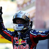 GEPA-29051199010 - FORMULA 1 - Grand Prix of Monaco. Image shows the rejoicing of Sebastian Vettel (GER/ Red Bull Racing).  Photo: Mark Thompson/ Getty Images - For editorial use only. Image is free of charge