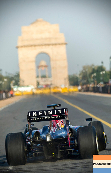 GEPA-01101199705 - FORMULA 1 - Grand Prix of India, preview, showrun. Image shows Daniel Ricciardo (AUS). Photo: Getty Images - For editorial use only. Image is free of charge