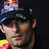 GEPA-19051199003 - FORMULA 1 - Grand Prix of Spain, press conference. Image shows Mark Webber (AUS/ Red Bull Racing). Photo: Paul Gilham/ Getty Images - For editorial use only. Image is free of charge