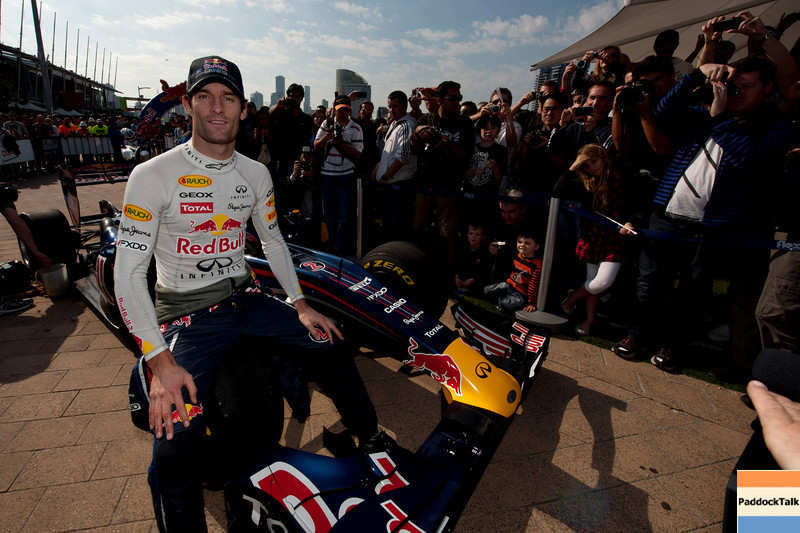 GEPA-19031199902 - FORMULA 1 - Red Bull Showrun. Image shows Mark Webber (AUS/ Red Bull Racing).  Photo: Getty Images/ Robert Prezioso - For editorial use only.