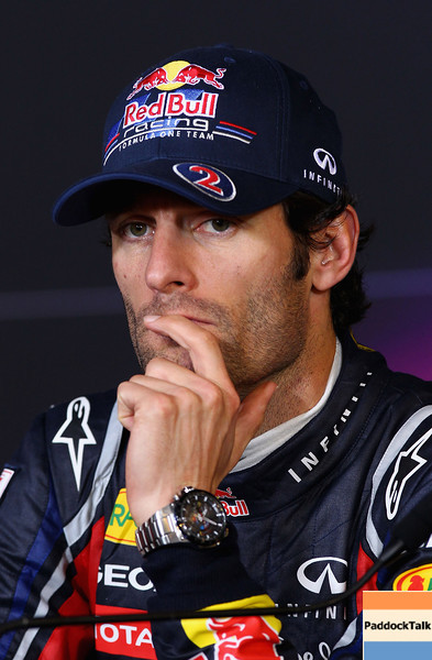GEPA-24071199017 - FORMULA 1 - Grand Prix of Germany, Nuerburgring, press conference. Image shows Mark Webber (AUS/ Red Bull Racing). Photo: Getty Images/ Clive Mason - For editorial use only. Image is free of charge