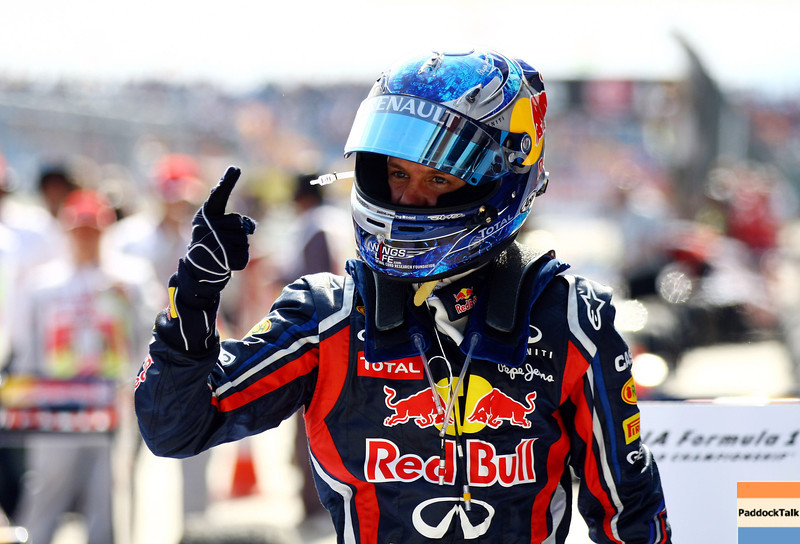 GEPA-08051199007 - FORMULA 1 - Grand Prix of Turkey. Image shows the rejoicing of Sebastian Vettel (GER/ Red Bull Racing). Photo: Paul Gilham/ Getty Images - For editorial use only. Image is free of charge