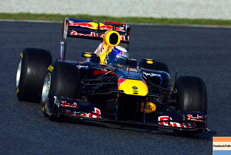 GEPA-18021199014 - FORMULA 1 - Testing in Barcelona, Circuit de Catalunya. Image shows Sebastian Vettel (GER/ Red Bull Racing). Photo: Mark Thompson/ Getty Images - For editorial use only. Image is free of charge