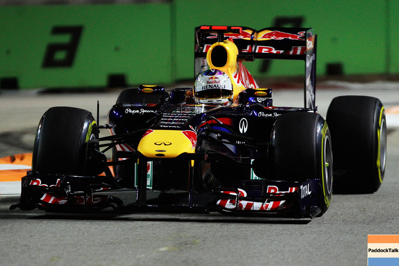 GEPA-25091199020 - FORMULA 1 - Grand Prix of Singapore. Image shows Sebastian Vettel (GER/ Red Bull Racing). Photo: Getty Images/ Paul Gilham - For editorial use only. Image is free of charge