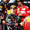 GEPA-08051199018 - FORMULA 1 - Grand Prix of Turkey. Image shows the rejoicing of Sebastian Vettel (GER/ Red Bull Racing). Keywords: podium, award ceremony, champagne. Photo: Mark Thompson/ Getty Images - For editorial use only. Image is free of charge