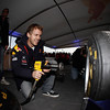 GEPA-22101199530 - FORMULA 1 - World Championship Party. Image shows Sebastian Vettel (GER/ Red Bull Racing). Keywords: tire change. Photo: Getty Images/ Daniel Grund - For editorial use only. Image is free of charge