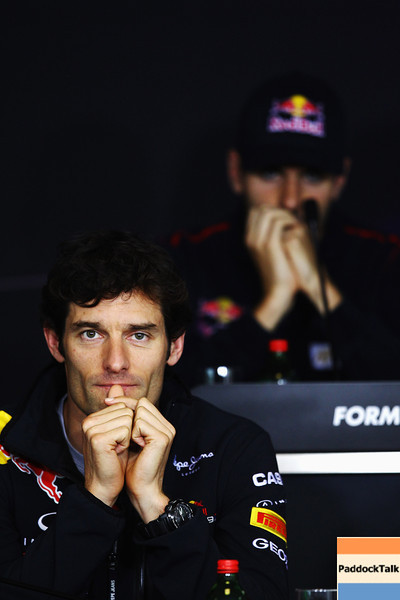 GEPA-28071199000 - FORMULA 1 - Grand Prix of Hungary, Hungaroring. Image shows Mark Webber (AUS/ Red Bull Racing). Keywords: press conference. Photo: Getty Images/ Vladimir Rys - For editorial use only. Image is free of charge
