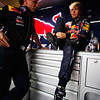 GEPA-15041199010 - FORMULA 1 - Grand Prix of China. Image shows team principal Christian Horner and Sebastian Vettel (GER/ Red Bull Racing). Photo: Getty Images/ Mark Thompson - For editorial use only. Image is free of charge