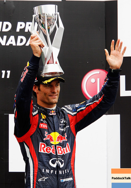 GEPA-12061199020 - FORMULA 1 - Grand Prix of Canada, award ceremony. Image shows Mark Webber (AUS/ Red Bull Racing). Photo: Mark Thompson/ Getty Images - For editorial use only. Image is free of charge