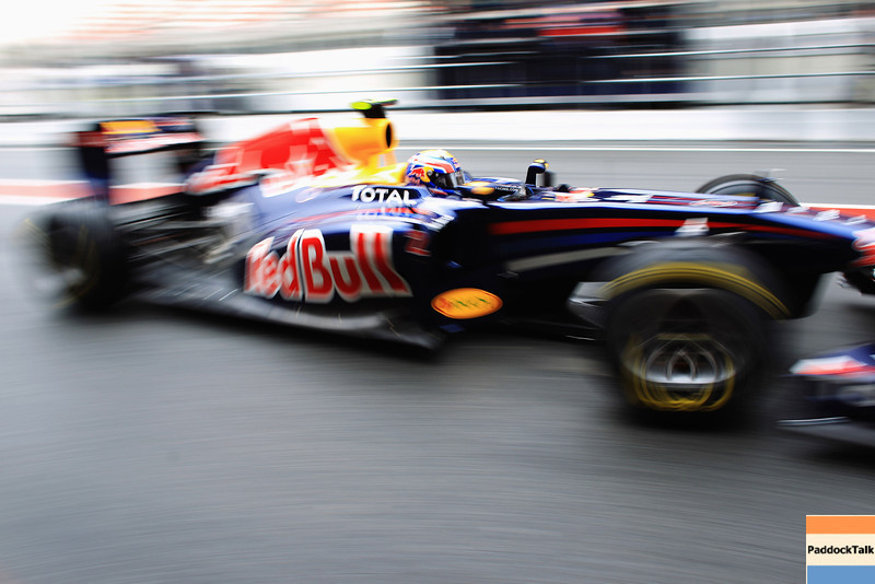 GEPA-20021199003 - FORMULA 1 - Testing in Barcelona, Circuit de Catalunya. Image shows Mark Webber (AUS/ Red Bull Racing). Photo: Mark Thompson/ Getty Images - For editorial use only. Image is free of charge