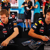 GEPA-11111199000 - FORMULA 1 - Grand Prix of Abu Dhabi, Yas Marina Circuit. Image shows Sebastian Vettel (GER/ Red Bull Racing) and Mark Webber (AUS/ Red Bull Racing). Photo: Getty Images/ Mark Thompson - For editorial use only. Image is free of charge