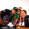 GEPA-11111199001 - FORMULA 1 - Grand Prix of Abu Dhabi, Yas Marina Circuit. Image shows Sebastian Vettel (GER/ Red Bull Racing) and Fans. Photo: Getty Images/ Mark Thompson - For editorial use only. Image is free of charge