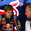 GEPA-25061199004 - FORMULA 1 - Grand Prix of Europe. Image shows Sebastian Vettel (GER) and motorsport consultant Helmut Marko (Red Bull). Photo: Clive Rose/ Getty Images - For editorial use only. Image is free of charge