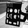 GEPA-21021199008 - FORMULA 1 - Testing in Barcelona, Circuit de Catalunya. Image shows a mechanic showing the laps. Keyword: pit board. Photo: Vladimir Rys/ Getty Images - For editorial use only. Image is free of charge