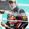 GEPA-10041199012 - FORMULA 1 - Grand Prix of Malaysia, Sepang Circuit. Image shows Sebastian Vettel (GER/ Red Bull Racing). Keywords: award ceremony, podium. Photo: Getty Images/ Paul Gilham - For editorial use only. Image is free of charge