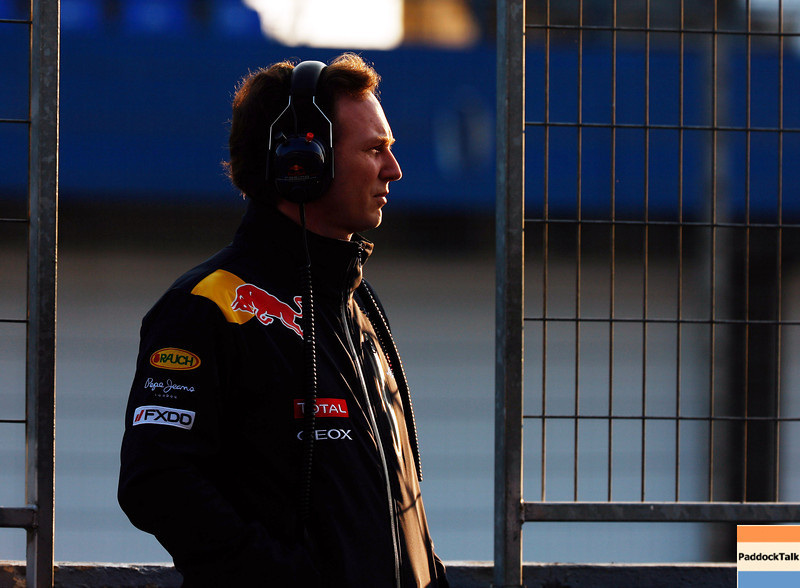 GEPA-12021199004 - FORMULA 1 - Testing in Jerez. Image shows team principal Christian Horner (Red Bull Racing). Photo: Mark Thompson/ Getty Images - For editorial use only. Image is free of charge