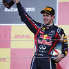 GEPA-09101199021 - FORMULA 1 - Grand Prix of Japan. Image shows the rejoicing of Sebastian Vettel (GER/ Red Bull Racing). Keywords: award ceremony, trophy. Photo: Getty Images/ Mark Thompson - For editorial use only. Image is free of charge