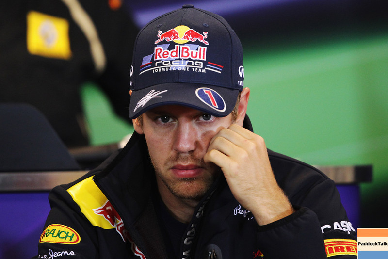 GEPA-25081199001 - FORMULA 1 - Grand Prix of Belgium, Spa Francorchamps. Image shows Sebastian Vettel (GER/ Red Bull Racing). Keywords: press conference. Photo: Getty Images/ Vladimir Rys - For editorial use only. Image is free of charge