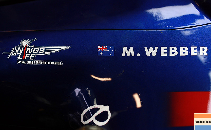 GEPA-21021199009 - FORMULA 1 - Testing in Barcelona, Circuit de Catalunya. Image shows the cockpit of Mark Webber (AUS/ Red Bull Racing). Photo: Vladimir Rys/ Getty Images - For editorial use only. Image is free of charge