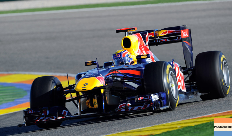 GEPA-03021199009 - FORMULA 1 - Testing in Valencia. Image shows Mark Webber (AUS/ Red Bull Racing). Photo: Javier Soriano/ Getty Images - For editorial use only. Image is free of charge