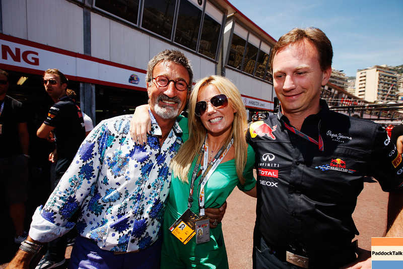 GEPA-29051199006 - FORMULA 1 - Grand Prix of Monaco. Image shows Eddie Jordan, Geri Halliwell and team principal Christian Horner (Red Bull Racing). Photo: Mark Thompson/ Getty Images - For editorial use only. Image is free of charge