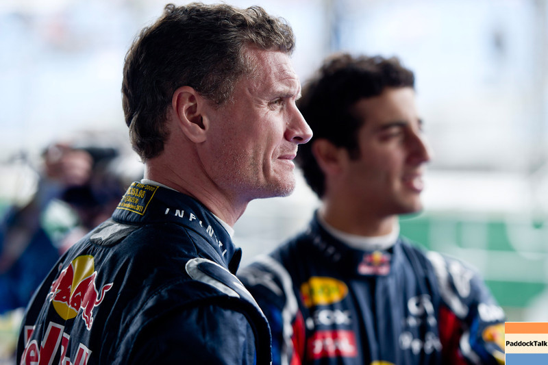 GEPA-24031199000 - FORMULA 1 - Grand Prix of Australia, preview, Red Bull Race Off. Image shows David Coulthard (GBR) and test driver Daniel Ricciardo (AUS/ Scuderia Toro Rosso). Photo: Getty Images/ Mark Watson - For editorial use only. Image is free of charge