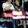 GEPA-08041199002 - FORMULA 1 - Grand Prix of Malaysia, Sepang Circuit. Image shows Motorsport Consultant Helmut Marko and Sebastian Vettel (GER/ Red Bull Racing). Photo: Getty Images/ Paul Gilham - For editorial use only. Image is free of charge