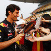 GEPA-14041199004 - FORMULA 1 - Grand Prix of China. Image shows Mark Webber (AUS/ Red Bull Racing). keywords: autograph. Photo: Getty Images/ Mark Thompson - For editorial use only. Image is free of charge