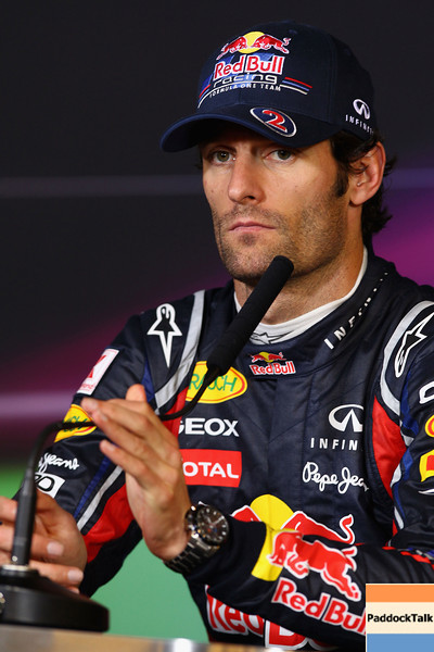 GEPA-24071199018 - FORMULA 1 - Grand Prix of Germany, Nuerburgring, press conference. Image shows Mark Webber (AUS/ Red Bull Racing). Photo: Getty Images/ Clive Mason - For editorial use only. Image is free of charge