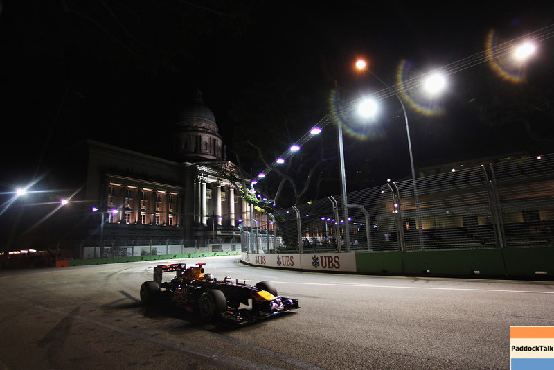 GEPA-24091199016 - FORMULA 1 - Grand Prix of Singapore. Image shows Sebastian Vettel (GER/ Red Bull Racing). Photo: Getty Images/ Mark Thompson - For editorial use only. Image is free of charge