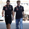GEPA-10111199000 - FORMULA 1 - Grand Prix of Abu Dhabi, Yas Marina Circuit. Image shows race engineer Guillaume Rocquelin and Sebastian Vettel (GER/ Red Bull Racing). Photo: Getty Images/ Mark Thompson - For editorial use only. Image is free of charge