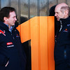 GEPA-03021199015 - FORMULA 1 - Testing in Valencia. Image shows team principal Christian Horner and chief technical oficer Adrian Newey (Red Bull Racing). Photo: Mark Thompson/ Getty Images - For editorial use only. Image is free of charge