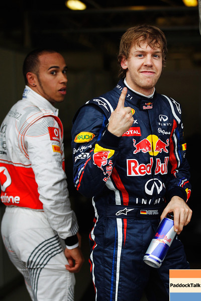 GEPA-26031199018 - FORMULA 1 - Grand Prix of Australia. Image shows Lewis Hamilton (GBR/ McLaren Mercedes) and Sebastian Vettel (GER/ Red Bull Racing). Photo: Getty Images/ Mark Thompson - For editorial use only. Image is free of charge