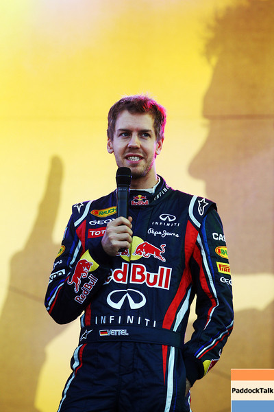 GEPA-22101199510 - FORMULA 1 - World Championship Party. Image shows Sebastian Vettel (GER/ Red Bull Racing). Photo: Getty Images/ Alex Grimm - For editorial use only. Image is free of charge