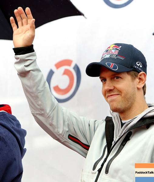 GEPA-15051181070 - SPIELBERG,AUSTRIA,15.MAY.11 - MOTORSPORT, FORMULA 1 - Open House Day Red Bull Ring, project Spielberg. Image shows Sebastian Vettel (GER/ Red Bull Racing). Photo: GEPA pictures/ Christian Walgram - For editorial use only. Image is free of charge.