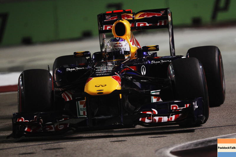 GEPA-24091199002 - FORMULA 1 - Grand Prix of Singapore. Image shows Sebastian Vettel (GER/ Red Bull Racing). Photo: Getty Images/ Mark Thompson - For editorial use only. Image is free of charge