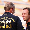 GEPA-16101199014 - FORMULA 1 - Grand Prix of South Korea, Korean International Circuit. Image shows motorsport consultant Helmut Marko and team prinicpal  Christian Horner (Red Bull Racing). Photo: Getty Images/ Clive Mason - For editorial use only. Image is free of charge