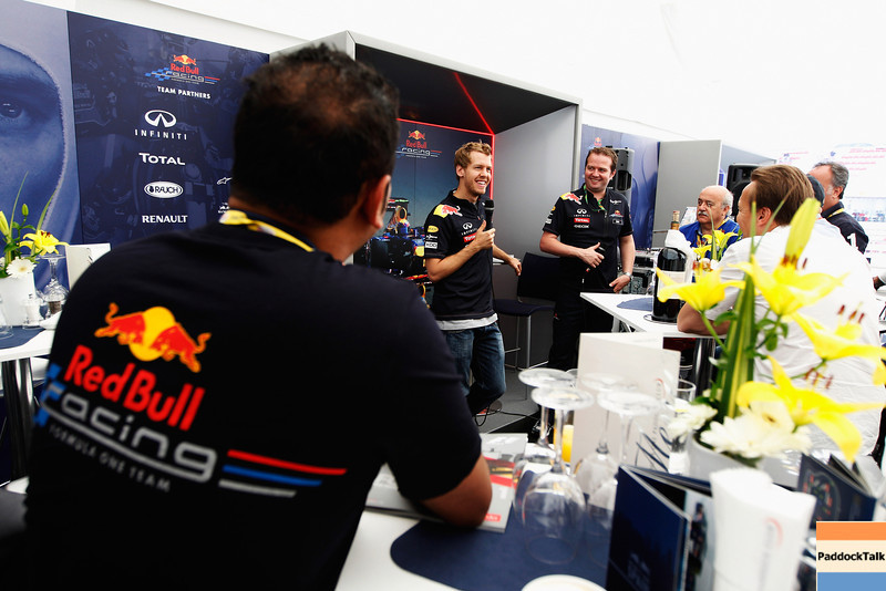 GEPA-22051199001 - FORMULA 1 - Grand Prix of Spain. Image shows Sebastian Vettel (GER/ Red Bull Racing) in the Red Bull Racing paddock club. Photo: Mark Thompson/ Getty Images - For editorial use only. Image is free of charge