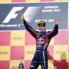 GEPA-09101199036 - FORMULA 1 - Grand Prix of Japan. Image shows the rejoicing of Sebastian Vettel (GER/ Red Bull Racing). Keywords: award ceremony. Photo: Getty Images/ Mark Thompson - For editorial use only. Image is free of charge